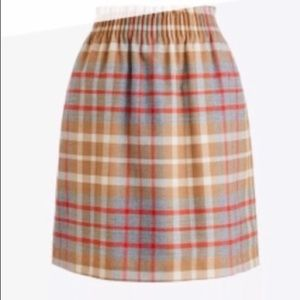 J.crew NWOT wool blend plaid mini sidewalk skirt